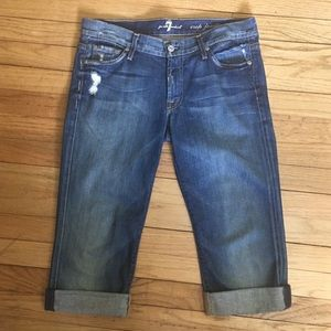 7 for all mankind crop Josephina size 27